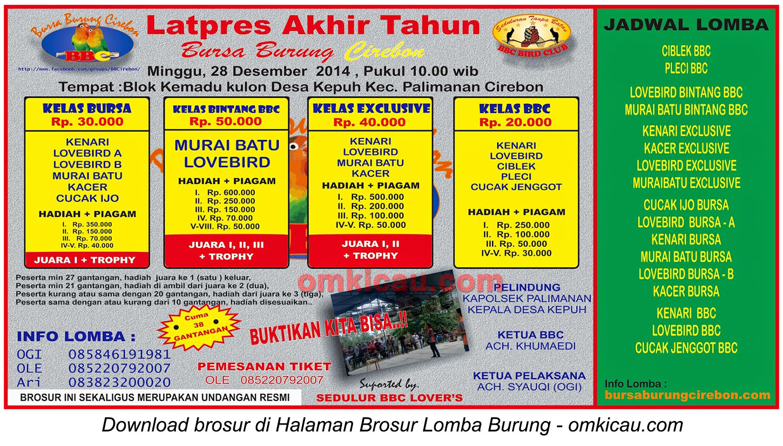 Brosur Latpres Akhir Tahun BBC Cirebon, 28 Desember 2014