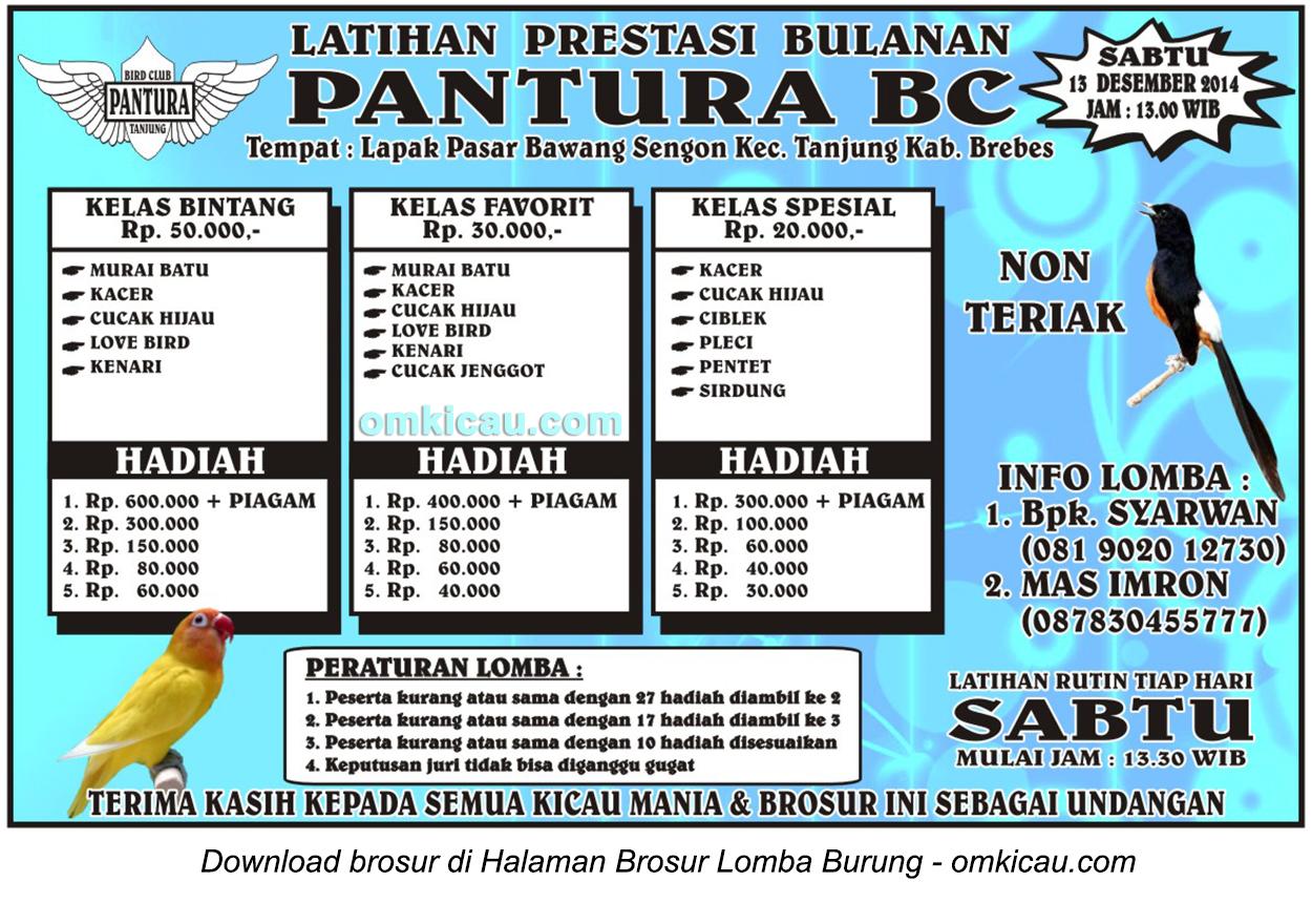 Brosur Latpres Bulanan Pantura BC, Brebes, 13 Desember 2014
