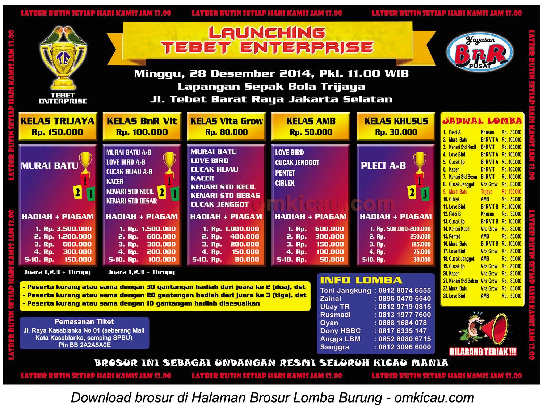Brosur Launching Tebet Enterprise -- Jakarta Selatan, 28 Desember 2014
