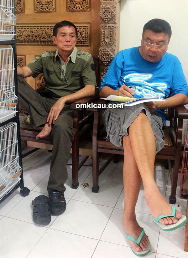 Om JJ (kanan) dan Ko Tuning Wijaya