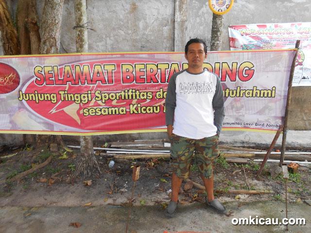 Latpres KLBJ Jambi - Bang Cucun, ketua Komunitas Love Bird Jambi (KLBJ).