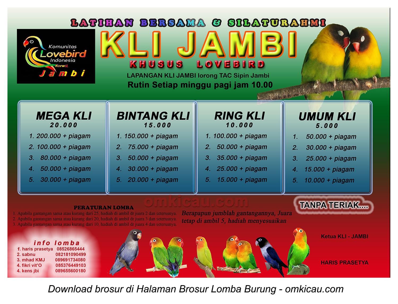 Brosur Latber KLI Jambi setiap hari Minggu