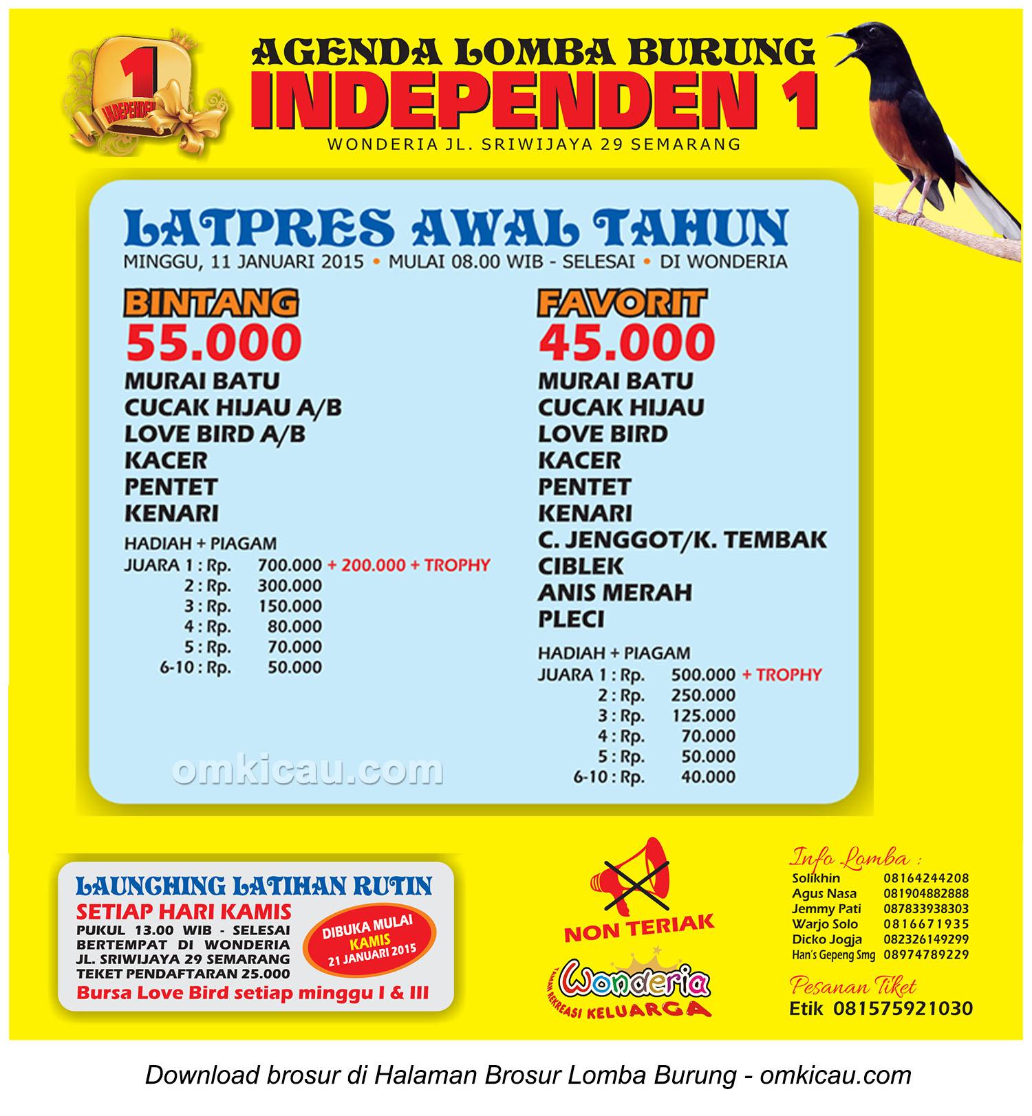 Brosur Latpres Awal Tahun Independen 1, Semarang, 11 Januari 2015