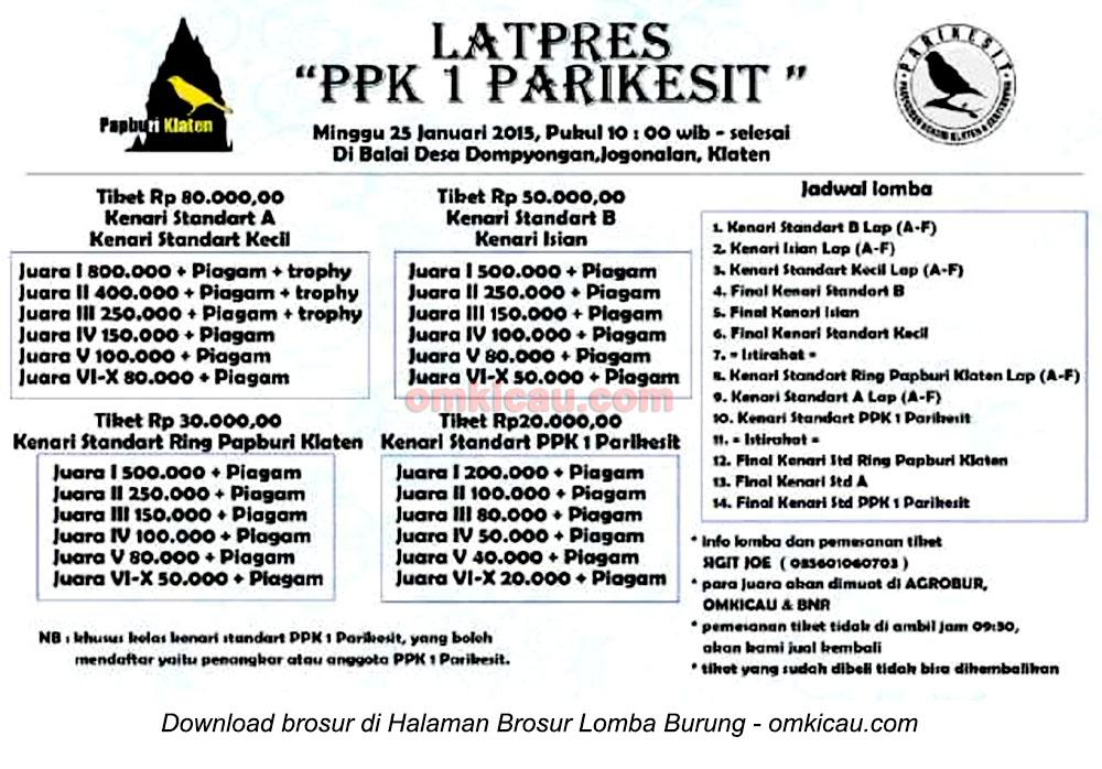Brosur Latpres PPK-1 Parikesit Klaten, 25 Januari 2015