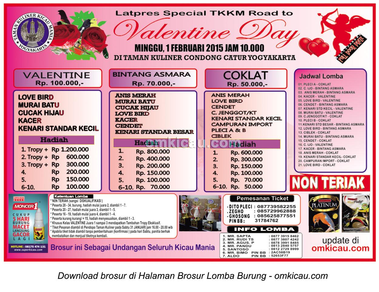 Brosur Latpres Special TKKM Road to Valentine Day, Jogja, 1 Februari 2015