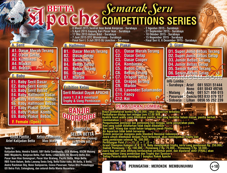 Brosur Serial Kontes Cupang Betta Apache, Surabaya