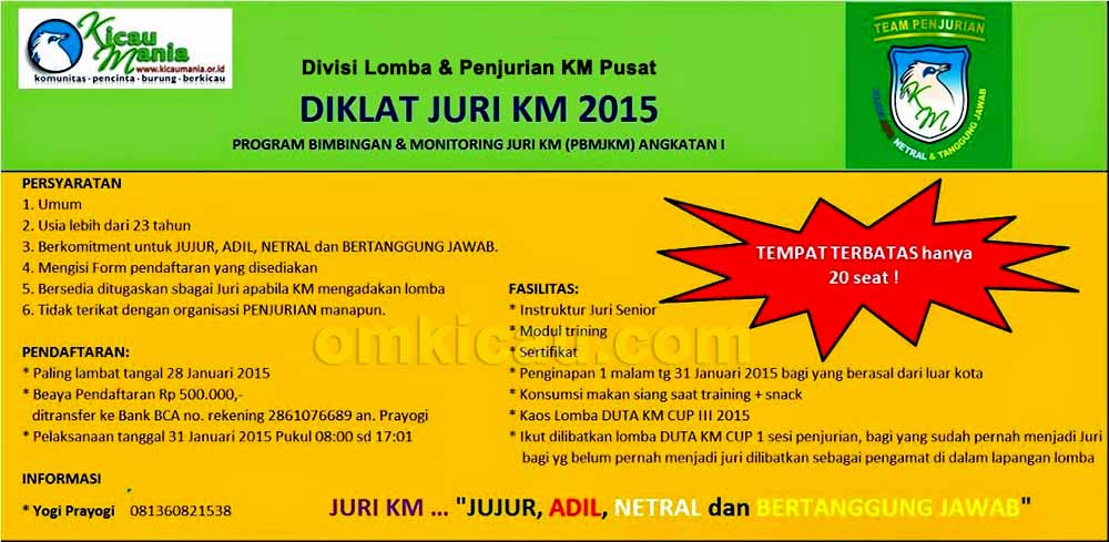 BROSUR TRAINING JURI KM 2015