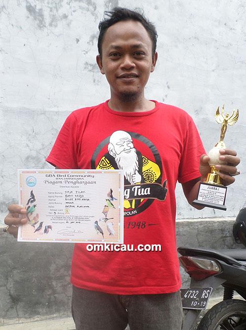 Ghony BBM Purbalingga – Kacer Raja Pilak terbaik di Kelas TS Platinum