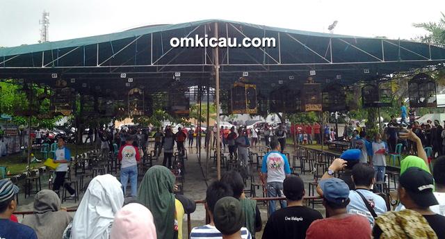 Suasana lomba kelas kacer YnC Cup 2 di Balikpapan