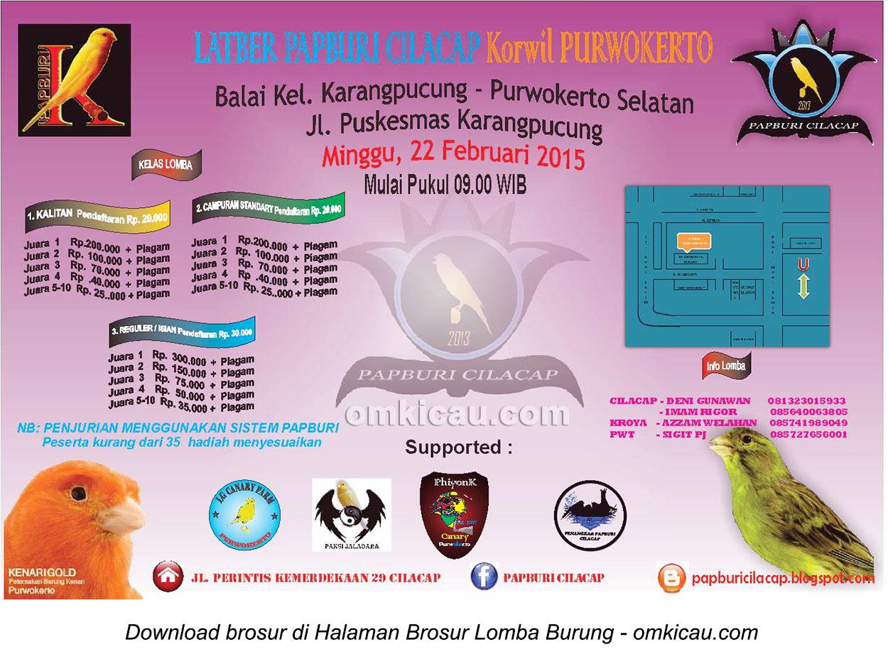 Brosur Latber Papburi Cilacap Korwil Purwokerto, 22 Februari 2015