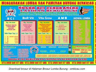 Brosur Latihan Bergengsi Rusun BCI Cengkareng, Jakarta Barat, 8 Februari 2015