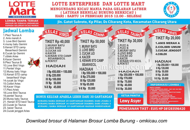 Brosur Latpres Lotte Enterprise, Cikarang Utara, 14 Februari 2015