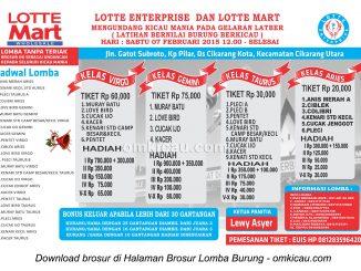 Brosur Latpres Lotte Enterprise, Cikarang Utara, 7 Februari 2015
