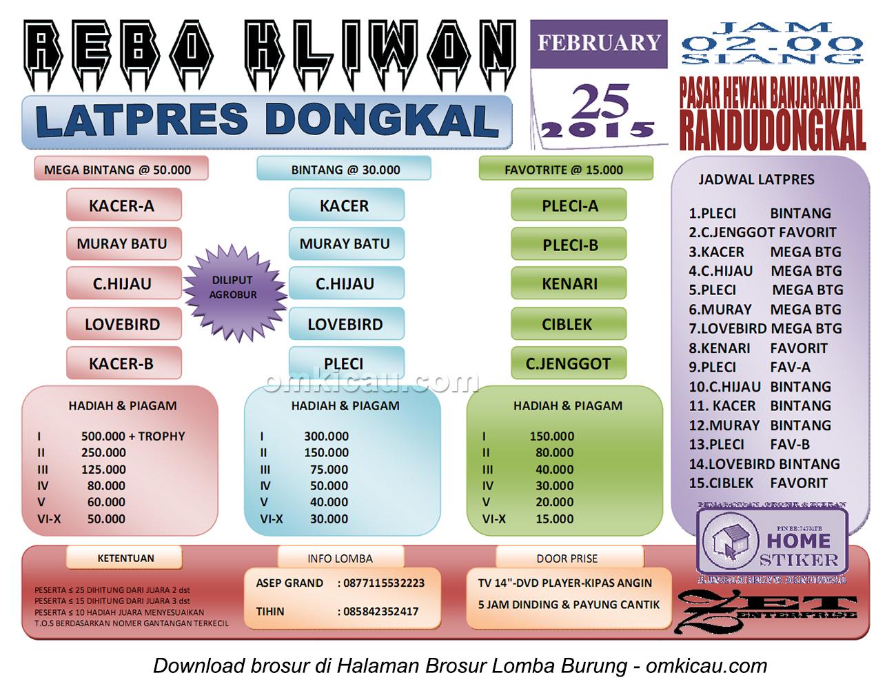 Brosur Latpres Rebo Kliwon Dongkal, Pemalang, 25 Februari 2015