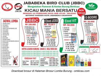 Brosur Lomba Burung Berkicau Jababeka BC, Cikarang, 15 Februari 2015
