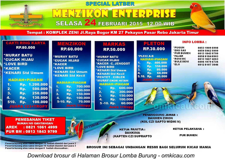 Brosur Special Latber Menzikon Enterprise, Jakarta, 24 Februari 2015