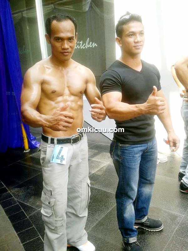 Om Eko TCP (kiri) yang juga atlet body contest