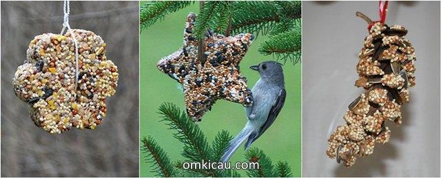 Aneka macam bentuk olahan pakan biji-bijian untuk burung peliharaan