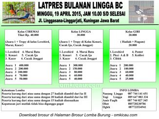 Brosur Latpres Bulanan Lingga BC, Kuningan, 19 April 2015