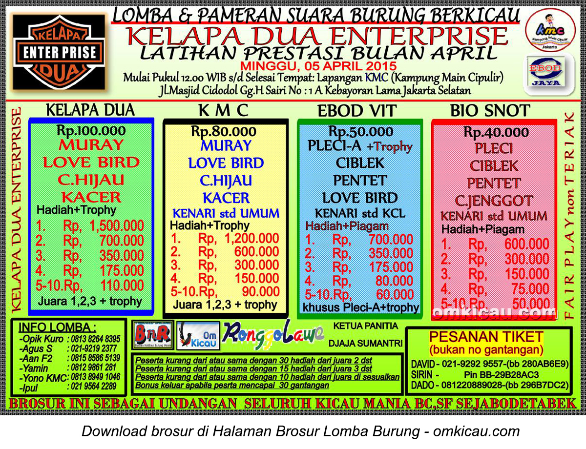 Brosur Latpres Kelapa Dua Enterprise, Jakarta Selatan, 5 April 2015