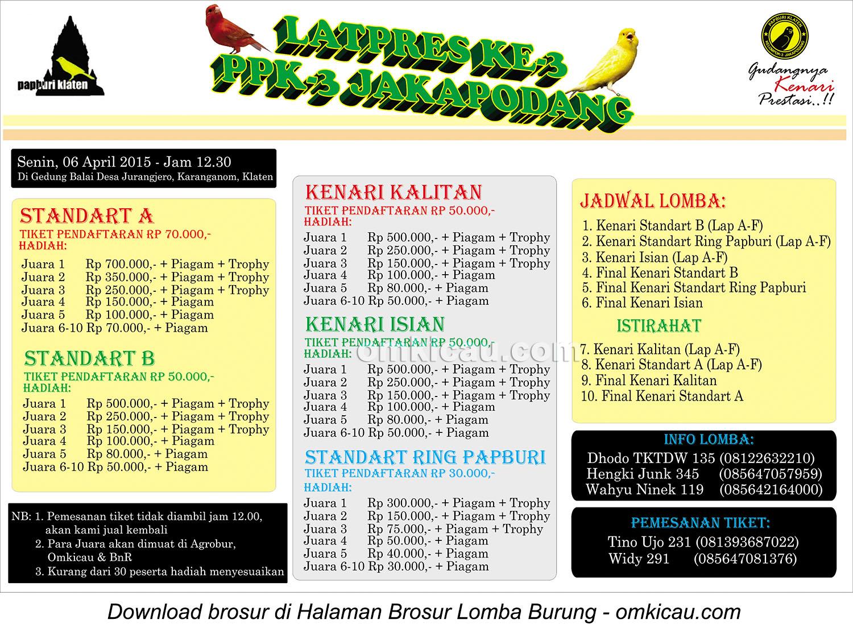 Brosur Latpres PPK-3 Jakapodang, Klaten, 6 April 2015