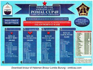 Brosur Lomba Burung Berkicau Pomal Cup 69 Surabaya, 5 April 2015