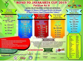 Brosur Lomba Burung Berkicau Road to Jayakarta Cup - JP Enterprise, Depok, 22 Maret 2015