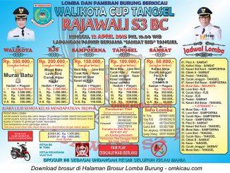 Brosur Lomba Burung Berkicau Walikota Cup Tangsel, 12 April 2015