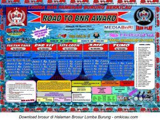 Brosur Lomba Burung Road to BnR Award, Jambi, 8 Maret 2015