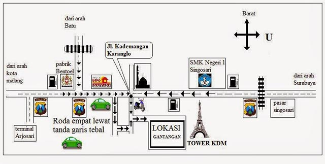 Gantangan KDM Tower Malang