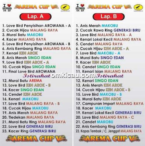 Jadwal terbaru Arema Cup V