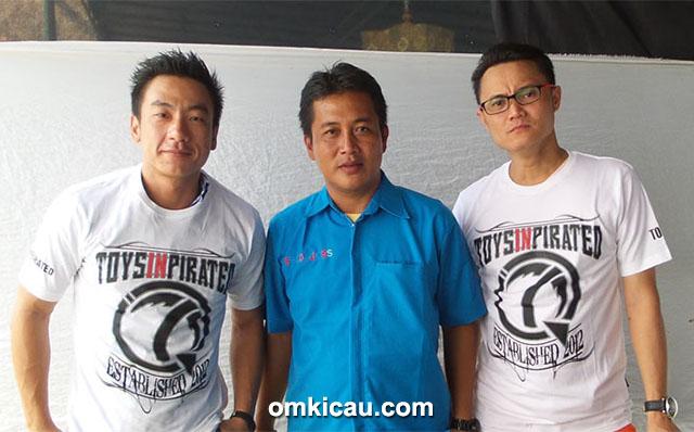 Om Jimmy DS (kanan), Om Andre Sutanto (kiri), dan Om Adry Babel