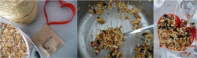 Membuat olahan pakan biji-bijian menggunakan gelatin
