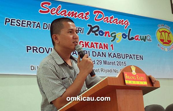 Ketua Rongggolawe Sumatera Om Yakhya