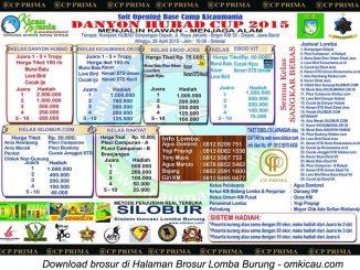 Brosur lomba burung berkicau Road to Danyon Hubad Cup, Depok, 25 April 2015