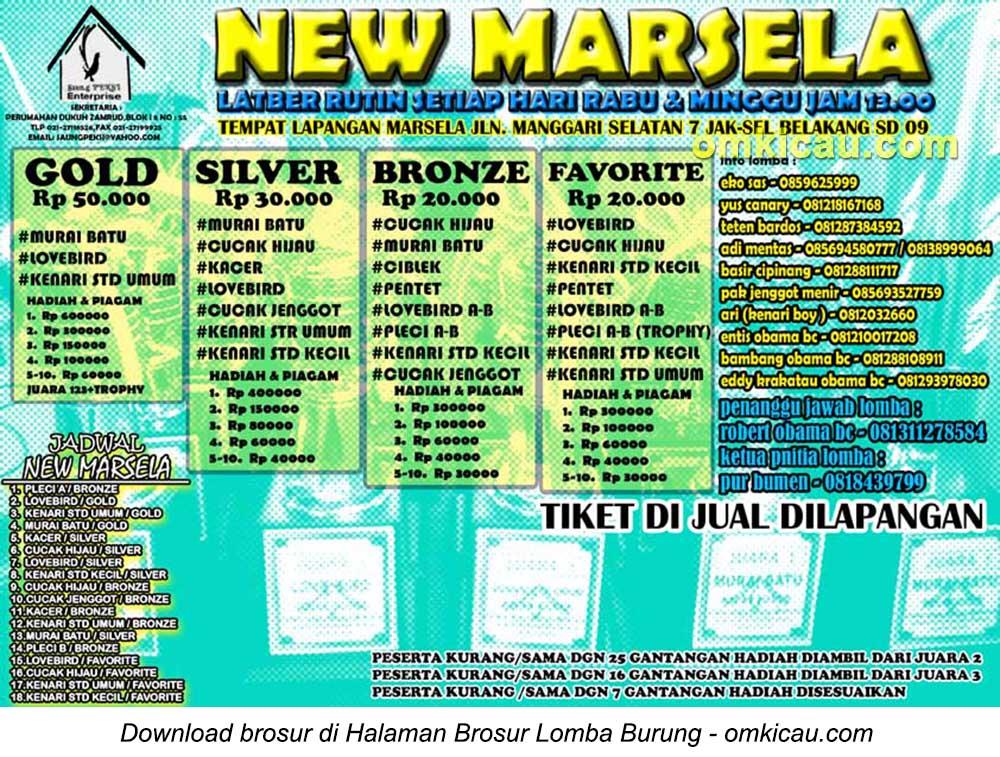 Brosur Latber Rutin New Marsela setiap Rabu dan Minggu