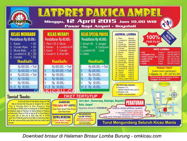 Brosur Latpres Pakica Ampel, Boyolali, 12 April 2015