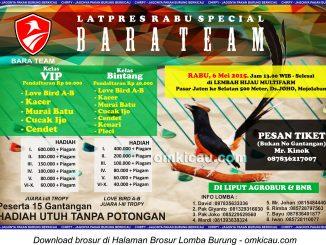 Brosur Latpres Rabu Special Bara Team, Sukoharjo, 6 Mei 2015