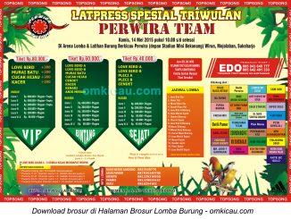 Brosur Latpres Spesial Triwulan Perwira Team, Sukoharjo, 14 Mei 2015