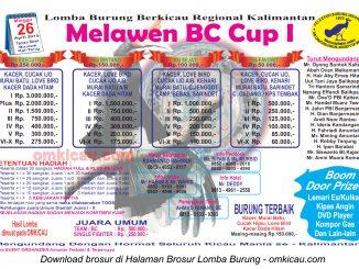 Brosur Lomba Burung Berkicau Melawen BC Cup I, Buntok, 26 April 2015