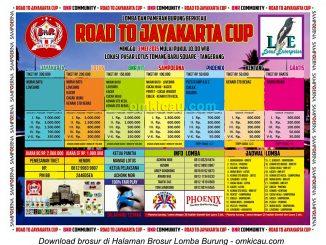Brosur Lomba Burung Berkicau Road to Jayakarta Cup, Tangerang, 3 Mei 2015