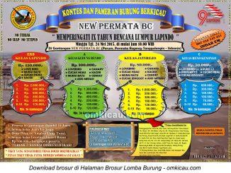 Brosur New Permata BC-9 Tahun Lumpur Lapindo Sidoarjo, 24 Mei 2015