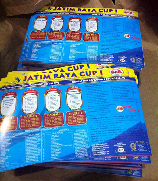 Brosur Jatim Raya Cup