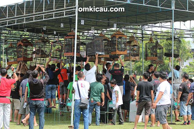 Lomba burung berkicau Danjen Kopassus Cup 2015