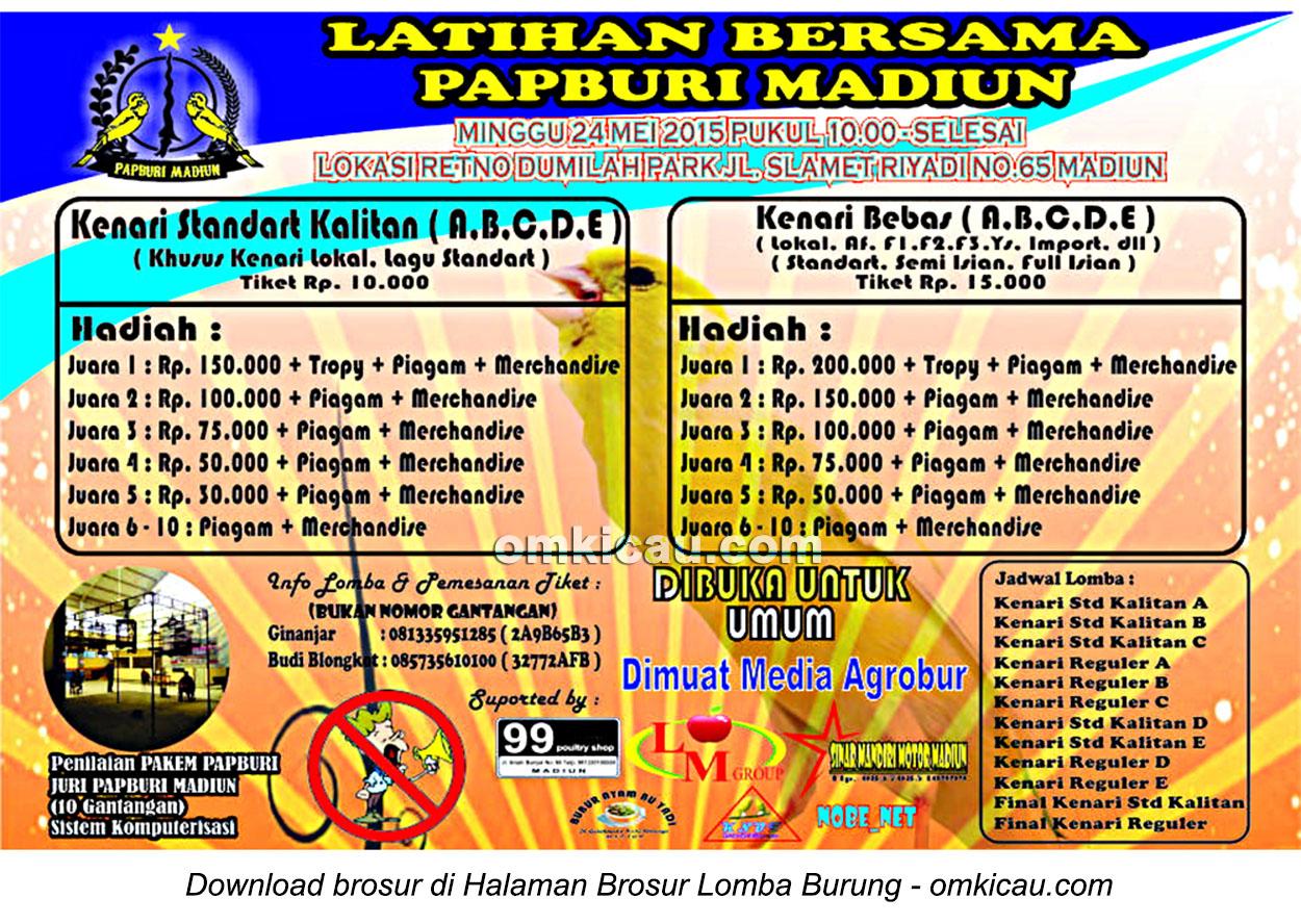 Brosur Latihan Bersama Papburi Madiun, 24 Mei 2015