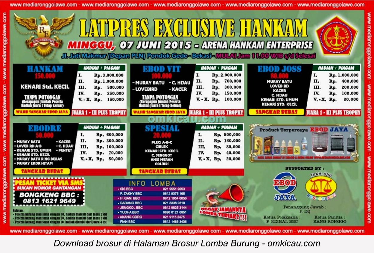 Brosur Latpres Exclusive Hankam Enterprise, Bekasi, 7 Juni 2015