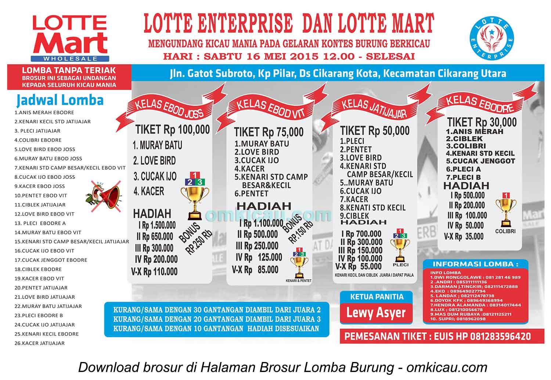 Brosur Latpres Lotte Enterprise, Cikarang, 16 Mei 2015