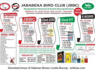 Brosur Lomba Burung Berkicau Jababeka BC, Cikarang, 7 Juni 2015