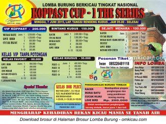 Brosur Lomba Burung Berkicau Koppast Cup - 1 The Series, Kudus, 7 Juni 2015