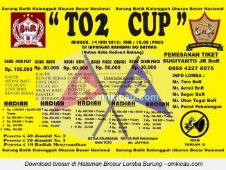 Brosur Lomba Burung Berkicau TO2 Cup, Batang, 14 Juni 2015